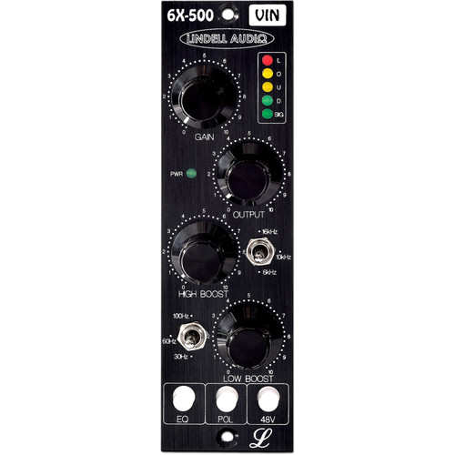 Lindell Audio 6X-500VIN Vintage Edition 1-Channel Transformer-Coupled Mic Preamp and Equalizer