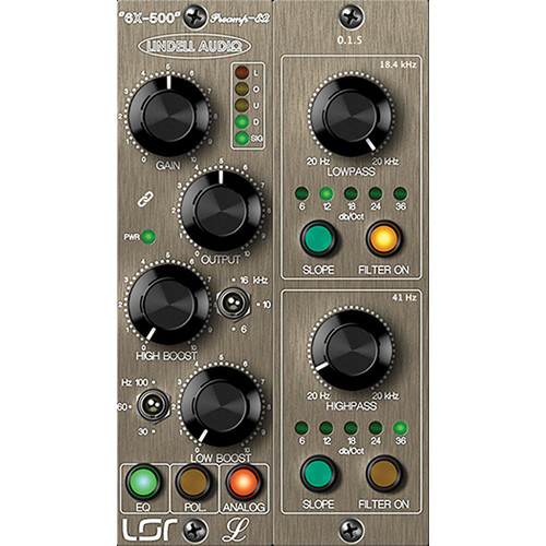 Lindell Audio 6X-500 - Class A Preamp and EQ Plug-In (Download)