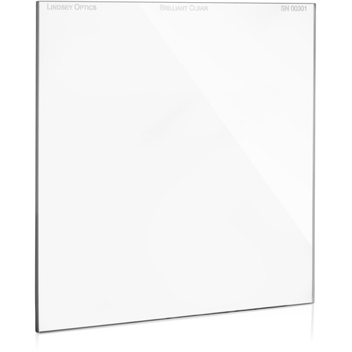 """Lindsey Optics 4 x 4"""" Brilliant Clear Filter with Anti-Reflection Coating"""