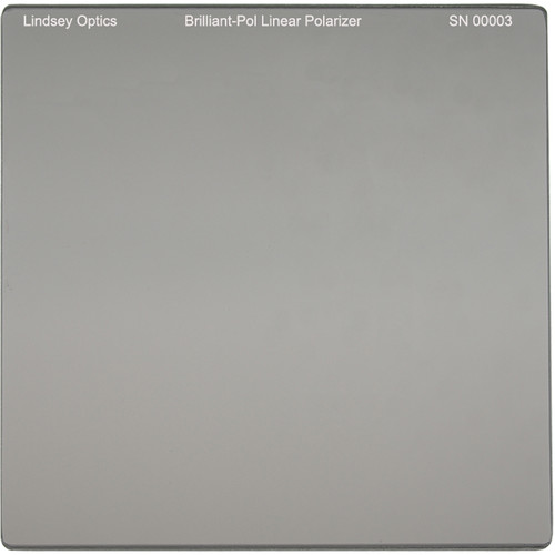 "Lindsey Optics 4 x 4"" Brilliant-Pol Linear Polarizer with Anti-Reflection Coating"