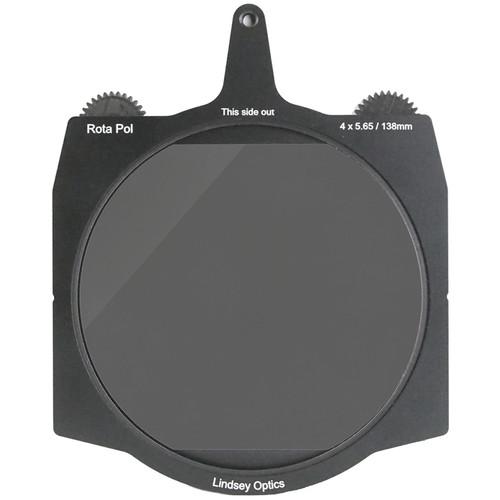 "Lindsey Optics 138mm Brilliant Rota-Pol Circular Polarizer for 4 x 5.65"" Cine Matte Boxes"