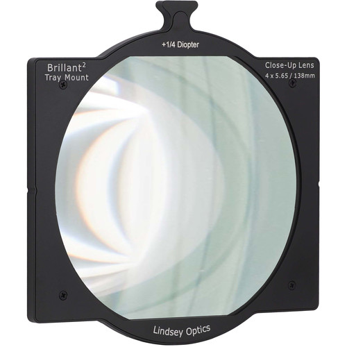 "Lindsey Optics 4 x 5.65"" +1/4 Diopter Brilliant Tray Mount Close-Up Lens"