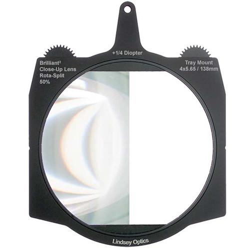 "Lindsey Optics Brilliant² 4 x 5.65"" +1/4 Diopter Rota-Split 50% Close-Up Lens"
