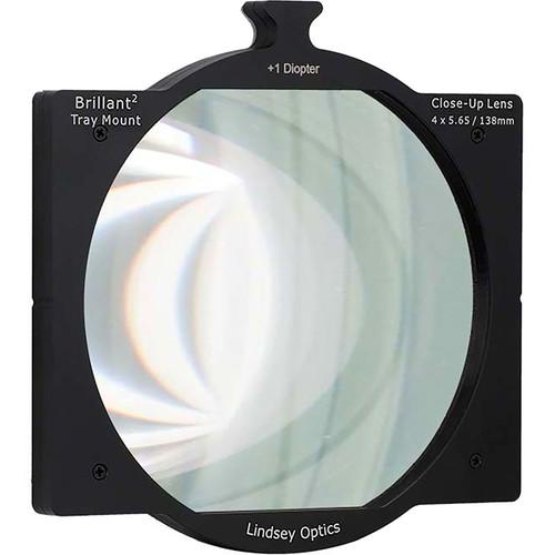 "Lindsey Optics 4 x 5.65"" +1 Diopter Brilliant Tray Mount Close-Up Lens"
