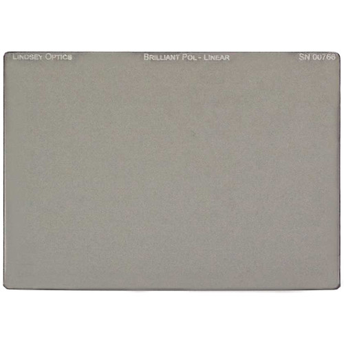 "Lindsey Optics 4 x 5.65"" Brilliant-Pol Linear Polarizer with Anti-Reflection Coating"