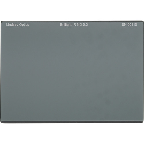 "Lindsey Optics 4 x 5.65"" Brilliant IR ND 0.3 Filter with Anti-Reflection Coating"