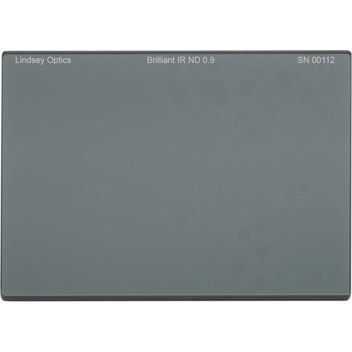 "Lindsey Optics 4 x 5.65"" Brilliant IR ND 0.9 Filter with Anti-Reflection Coating"