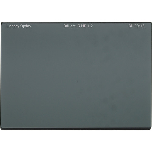 "Lindsey Optics 4 x 5.65"" Brilliant IR ND 1.2 Filter with Anti-Reflection Coating"