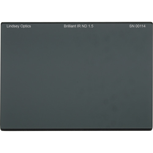 "Lindsey Optics 4 x 5.65"" Brilliant IR ND 1.5 Filter with Anti-Reflection Coating"
