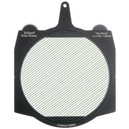 "Lindsey Optics Brilliant² 4 x 5.65"" Rota-Streak Filter (Green, 4mm Cylindrical Lens Spacing)"
