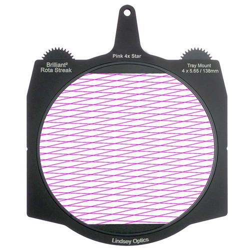 "Lindsey Optics Brilliant² 4 x 5.65"" Rota-Streak Filter (Pink, Diamond 4-Point Star)"
