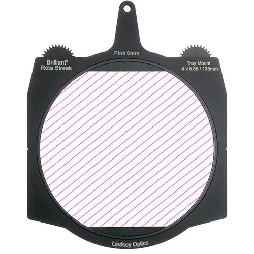 "Lindsey Optics Brilliant² 4 x 5.65"" Rota-Streak Filter (Pink, 6mm Cylindrical Lens Spacing)"