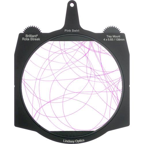"Lindsey Optics Brilliant² 4 x 5.65"" Rota-Streak Filter (Pink, Swirl)"