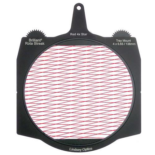 "Lindsey Optics Brilliant² 4 x 5.65"" Rota-Streak Filter (Red, Diamond 4-Point Star)"
