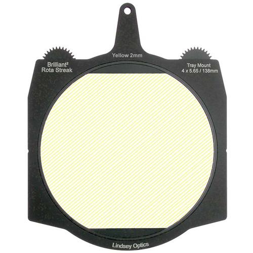 "Lindsey Optics Brilliant² 4 x 5.65"" Rota-Streak Filter (Yellow, 2mm Cylindrical Lens Spacing)"