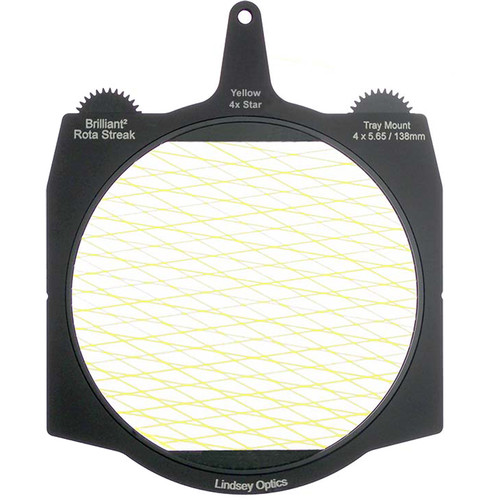 "Lindsey Optics Brilliant² 4 x 5.65"" Rota-Streak Filter (Yellow, Diamond 4-Point Star)"