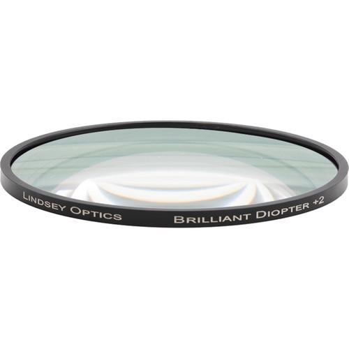 "Lindsey Optics 4.5"" Round Brilliant Close-Up Diopter +2"