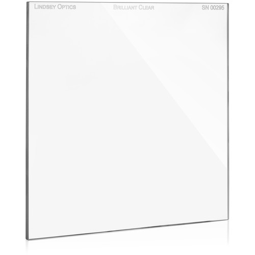 "Lindsey Optics 6.6 x 6.6"" Brilliant Clear Filter with Anti-Reflection Coating"