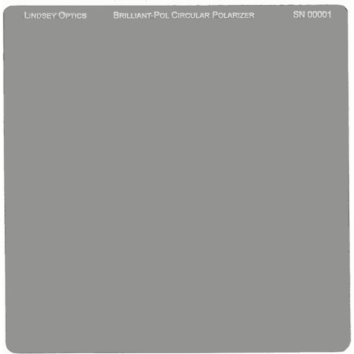 "Lindsey Optics 6.6 x 6.6"" Brilliant-Pol Circular Polarizer with Anti-Reflection Coating"