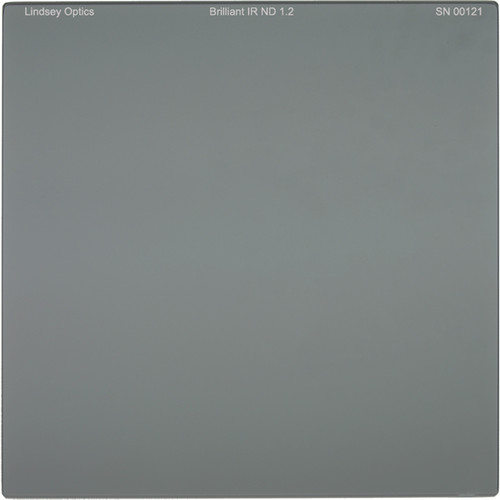 "Lindsey Optics 6.6 x 6.6"" Brilliant IR ND 1.2 Filter with Anti-Reflection Coating"