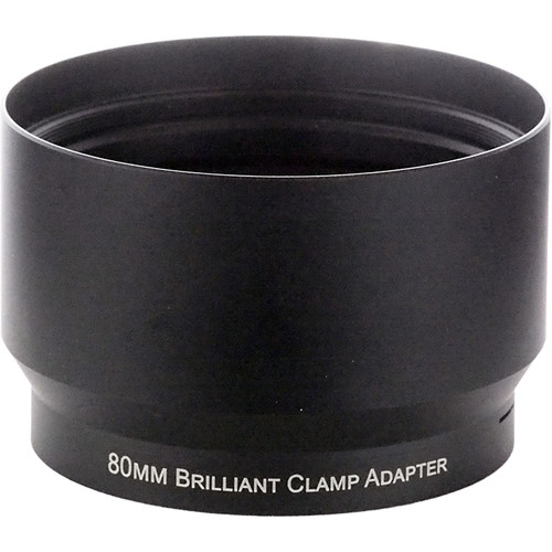 Lindsey Optics Brilliant Thumb Screw Clamp Adapter (80mm Barrel to 100mm X 0.75 Female)