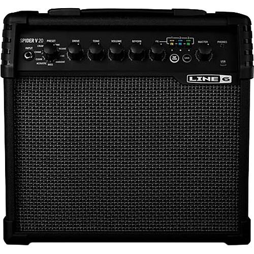 "Line 6 Spider V 20 8"" Modeling Combo Amplifier for Electric Guitars"