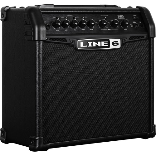 Line 6 Spider 15 Classic Guitar Amplifier with Modeling (Black)