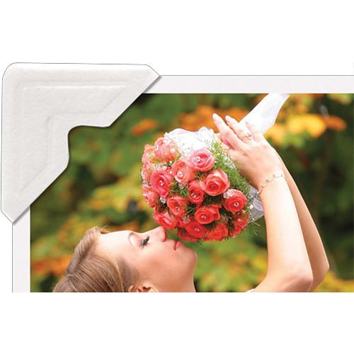 "University Products 0.5"" Self-Adhesive Photo Corners (Pack of 252, Ivory)"