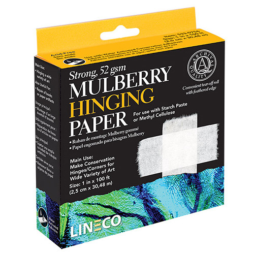 """Lineco Mulberry Hinging Paper (1"""" x 100')"""