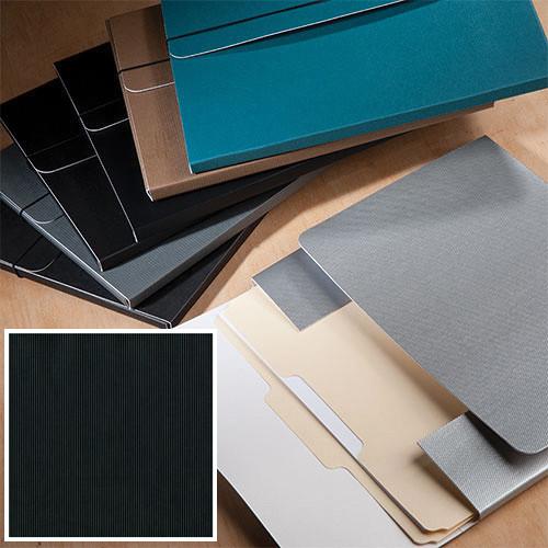 """University Products File & Photo Folio (9 x 12"""", Black Corduroy)"""