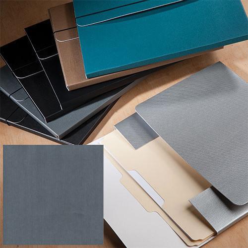 "University Products File & Photo Folio (9 x 12"", Gray Corduroy)"