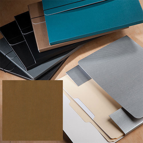 "University Products File & Photo Folio (9 x 12"", Mocha Corduroy)"