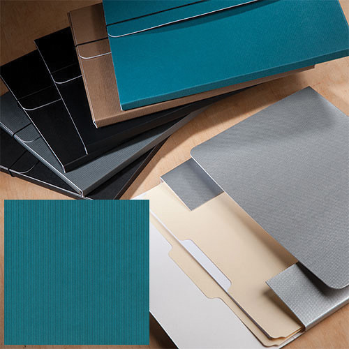 "University Products File & Photo Folio (9 x 12"", Teal Corduroy)"