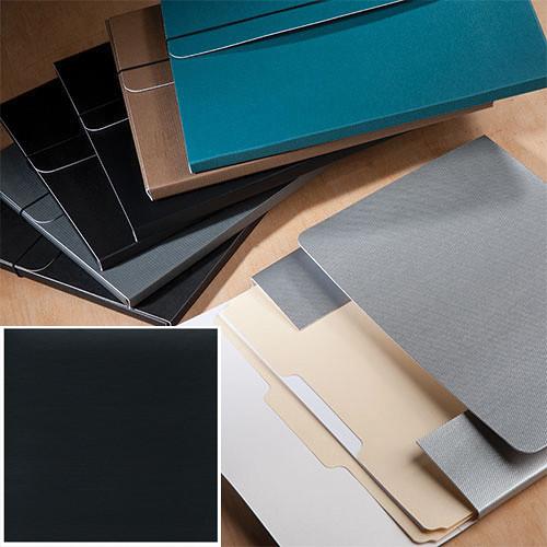 "University Products File & Photo Folio (9 x 12"", Black Onyx Matte)"