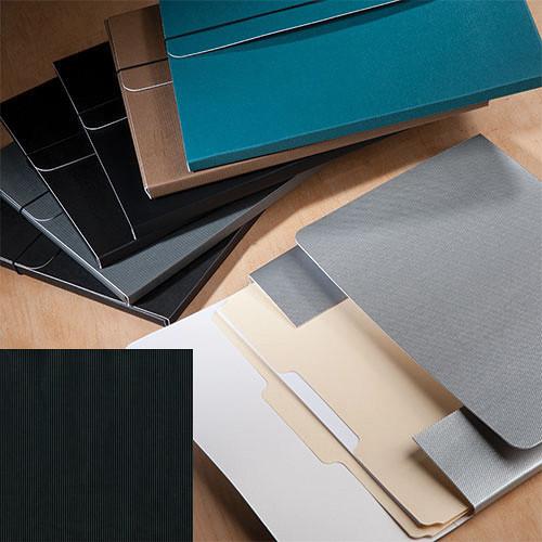 """University Products File & Photo Folio (11 x 14"""", Black Corduroy)"""
