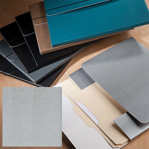 "University Products File & Photo Folio (11 x 14"", Metallic Silver)"