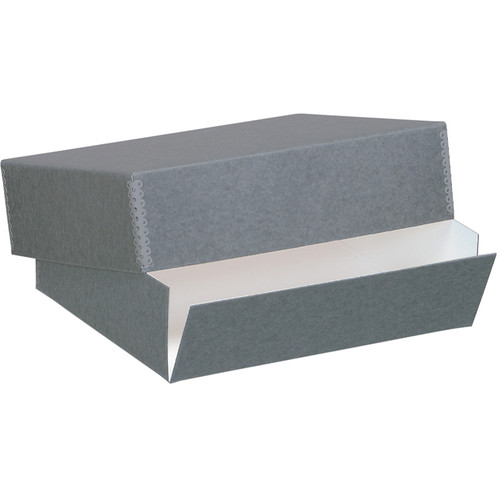 "Lineco Drop-Front Archival Box (13.5 x 19.5 x 3"", Blue/Gray)"