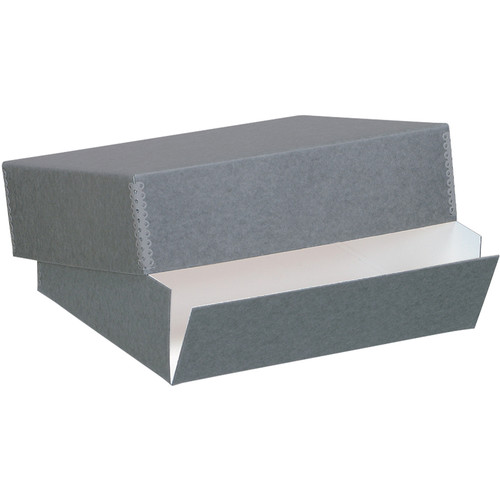 "Lineco 733-0722 Museum Quality Drop-Front Storage Box (17.5 x 22.5 x 3"", Blue/Gray Blue/Gray)"