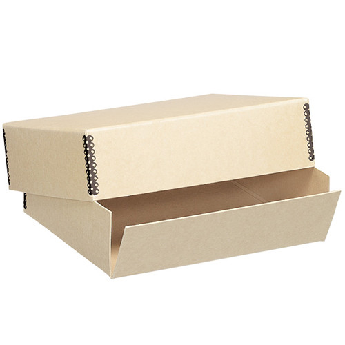 "Lineco 733-4722 Museum Quality Drop-Front Storage Box (17.5 x 22.5 x 1.5"", Tan Tan)"