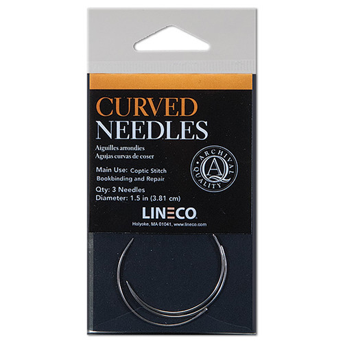 "Lineco Curved Bookbinder's Needles (1.5"", 3-Pack)"