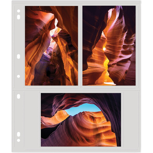 """Lineco Polypropylene Photo Album Pages (4 x 6"""", 25-Pack)"""