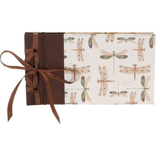 "Lineco Ribbon Bound Album with Ivory Pages Kit (Dragonflies Cover, 9.75 x 5.5"")"