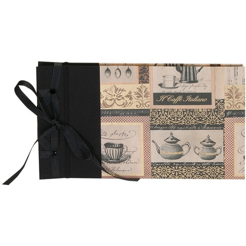"""Lineco Ribbon Bound Album with Ivory Pages Kit (Caffe Italiano Cover, 9.75 x 5.5"""")"""