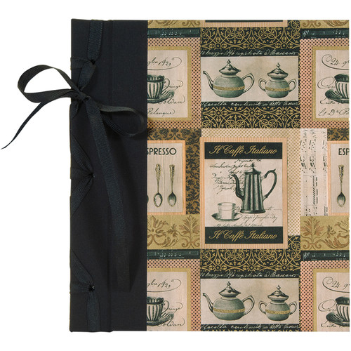 """Lineco Ribbon Bound Album with Ivory Pages Kit (Caffe Italiano Cover, 9.75 x 11"""")"""