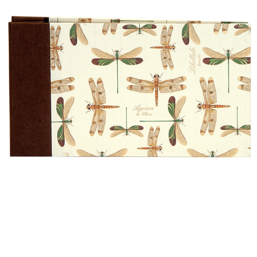 """Lineco Post Bound Album with Ivory Pages Kit (Dragonflies Cover, 9.75 x 5.5"""")"""