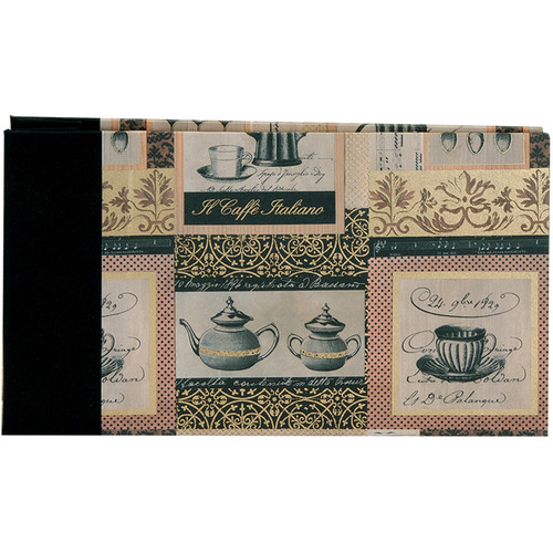 """Lineco Post Bound Album with Ivory Pages Kit (Caffe Italiano Cover, 9.75 x 5.5"""")"""