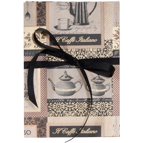 Lineco Accordion Album Kit with Black Pages and Caffe Italiano Cover