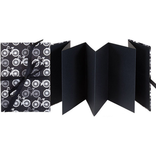 "Lineco Accordion Album with Black Pages & Bicycles-Style Cover (5.25 x 7.25"")"
