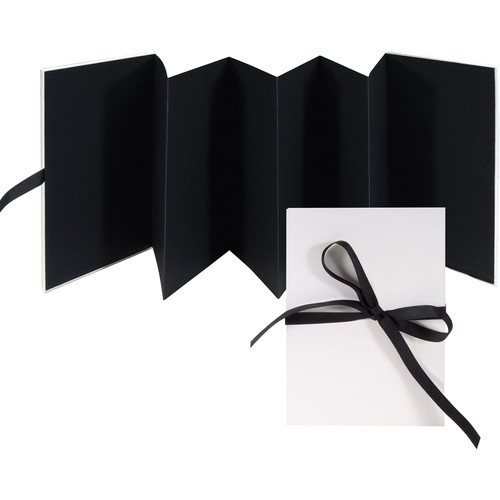 Lineco Accordion Album with Black Pages and Blank Cover
