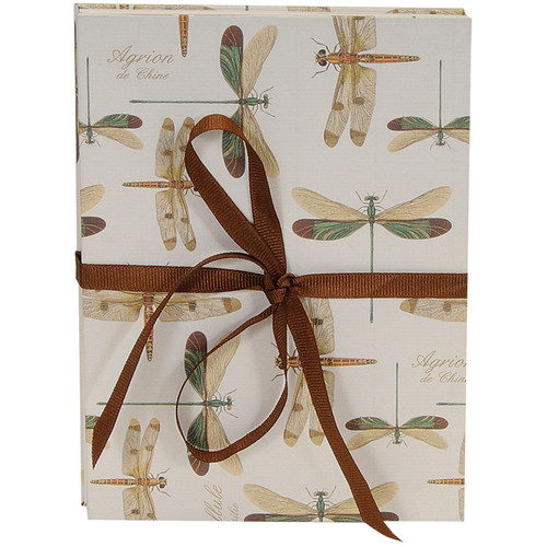 Lineco Accordion Album Kit with Ivory Pages and Dragonflies Cover